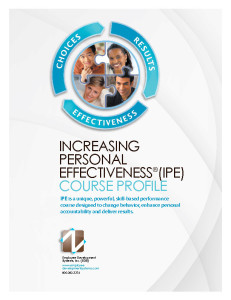Increasing Personal Effectiveness® Course Profile