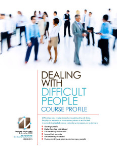 Dealing with difficult people coures profile